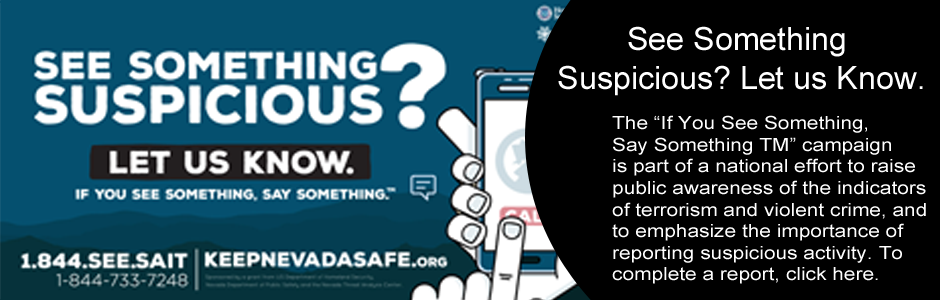 See Something Suspicious? Let us know.